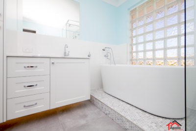 Winthrop Luxury Bathroom Remodel+Carrara Marble+Freestanding Bath+Hamptons Style