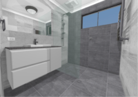 Bathroom remodel concept drawings