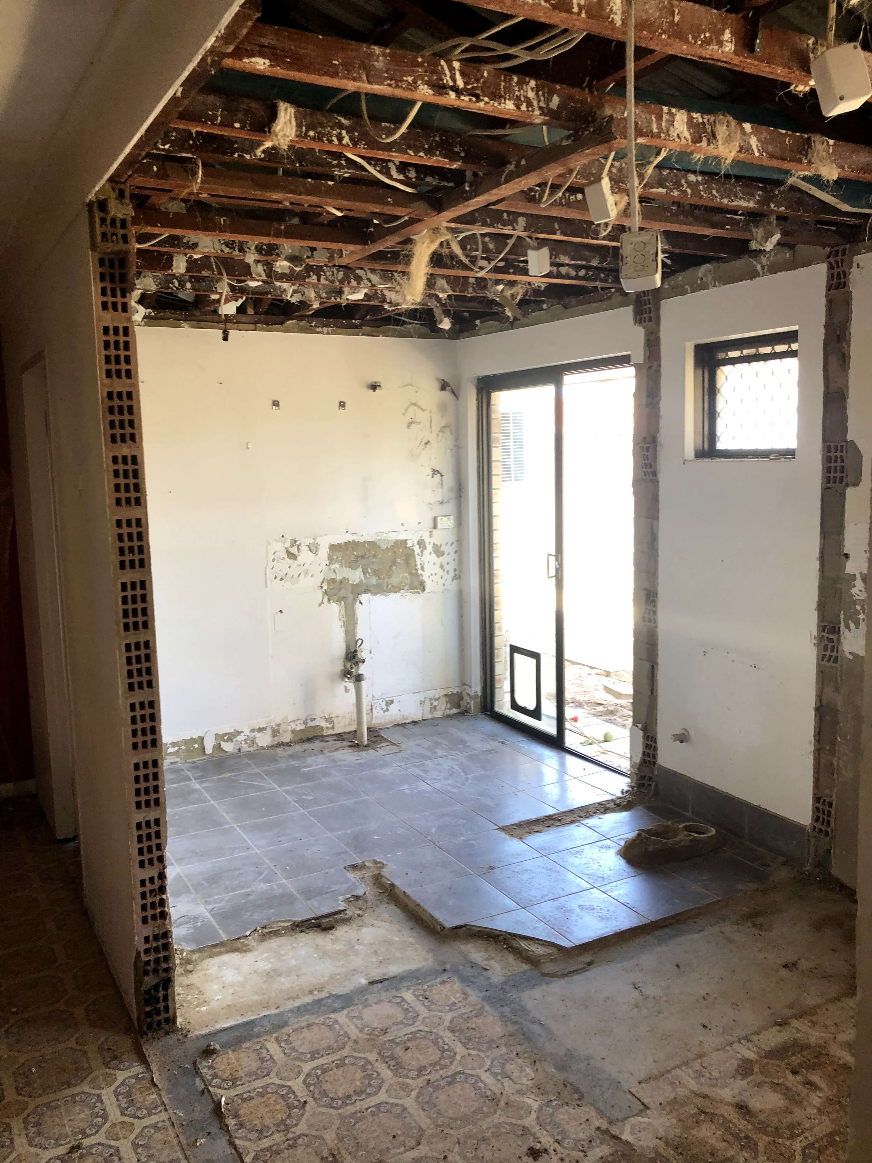 SHELLEY KITCHEN REMODEL STRUCTURAL WALLS REMOVED